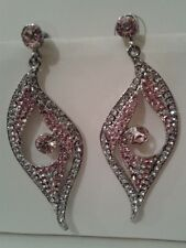 NOW REDUCED!  Dangling Pierced ear rings/diamante/silver/gold
