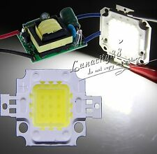 10W Cool White 900LM SMD LED Chips Light + 10W  High Power Driver Power Supply