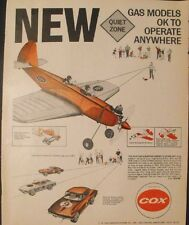 1966 Cox Gas Powered Model Airplane~QZ Corvette Sting-Ray Vintage Toy Promo AD
