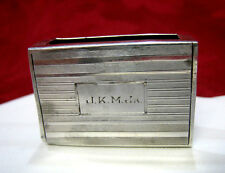 STERLING SILVER 5077 MINI MATCHES BOX CASE HOLDER 10 GRAMS