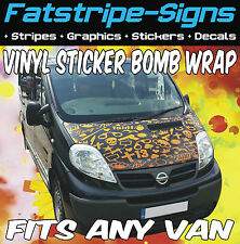 MERCEDES SPRINTER VINYL BONNET WRAP STICKER BOMB GRAPHICS MX MOTOCROSS RACE VAN