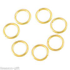 100PCs Stainless Steel Circle Jump Rings Gold Plated Jewelry Findings DIY 7mm