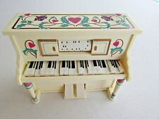Enesco 1985 Wind Up Player Piano PLAYS Keys & Roller Move
