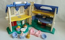 Vintage 1997 Fisher Price Little People House Home With Figures and Furniture
