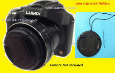 FRONT SNAP-ON LENS CAP DIRECT TO CAMERA PANASONIC LUMIX DMC-FZ28 DMC-FZ28K FZ 28