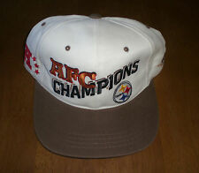 PITTSBURGH STEELERS AFC CHAMPIONS HAT - SNAP BACK