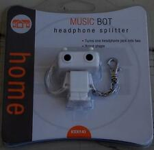 Home Brand Music Bot Headphone Splitter - BRAND NEW IN PACKAGE - CUTE AND USEFUL