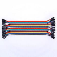 40X Dupont Draht Kabel Linie weiblichen Stecker Jumper Wire 2,54mm 3231