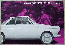 BMW 700 COUPE & 700 Car Sales Brochure 1960 #W181e 50 1.60