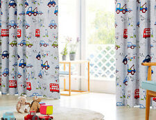 BLOCKOUT EYELET CURTAINS TRUCK BUS BOY KIDS ROOM CURTAIN baby bedroom