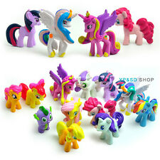 12x My Little Pony Mini Figures set Cake Toppers Toy Dolls Rainbow Dash Celestia