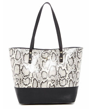 NEW Cole Haan Beckett Snakeskin, Python Embossed Leather Tote Bag Shopper $250