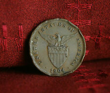 1 Centavo 1904 Bronze Philippines World Coin KM163 Hammer Anvil Eagle one cent