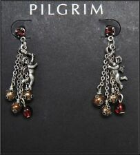 NEW PILGRIM EARRINGS WOMEN'S JEWELRY SWAROVSKI CRYSTALS ANGLES PENDANTS SILVER
