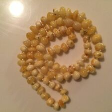 """Natural butterscotch Baltic Amber Yellow Beads Necklace 20"""""""