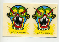 vtg impko decal water slide MOON LOON novelty hot rod motorcycle monster