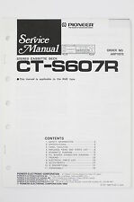 PIONEER CT-S607R Original Cassette Deck Service-Manual/Schaltplan/Diagram o99