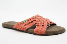 New SANUK Womens Girlie Siesta Slide Sandals Size 7 Color Orange JD1