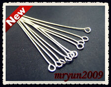Free 100PCS Jewelry Design Repair Needles PLATED Silver Annulus HEAD PINS 50MM