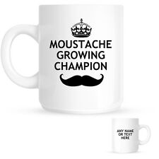 Personalised Movember Moustache Growing Champion Mug Coffee | Tea | Gift | Prize