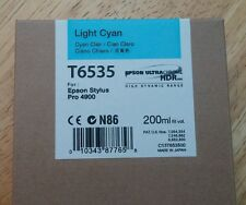 11-2014 New Genuine Epson T6535 200ml Light Cyan Ultrachrome HDR Ink 4900