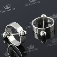 Pair 16G Stainless Steel Barbell Circle Nipple Shield Ring Body Piercing Jewelry