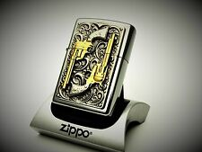 Zippo Lighter Limited Edition GOLDEN REVOLVERS 24k Gold dusted barrels pistol
