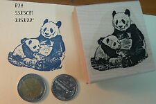 Panda bears rubber stamp P74