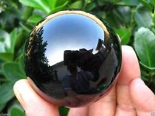 40MM+Socle Noir Naturel Obsidienne Sphère Boule De Cristal Thérapeutique Pierre