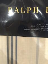 NIP RALPH LAUREN ISLA MENORCA STRIPED King FLAT SHEET