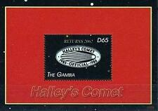 GAMBIA 2007 HALLEY´S COMET (OFFICEAL EMBLEM)  S/S MNH ** ASTRONOMY & SPACE
