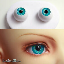1/3 1/4 1/6 bjd 16mm acrylic doll eyes glitter turquoise full eyeball dollfie