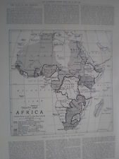 Photo article current treaty map of Africa 1898 my ref T