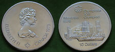 MONETA COIN MONNAIE CANADA 10 DOLLARS 1973 XXI OLYMPIAD MONTREAL 1976 ARGENTO #1