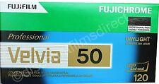3 x Fuji Fujichrome Velvia 50 50iso 120 Roll Colour Slide Film by 1st CLASS POST