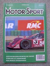 Motor Sport (Nov 1991) Honda NSX, Portugal & Spain GPs, Rally Australia,Alfa 164