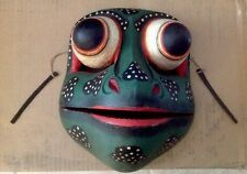 Vintage Balinese Drama Hinged Frog Dance Mask Hand Carved-Bali Wall Art