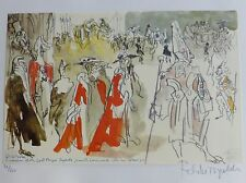 FELIKS TOPOLSKI The Law Courts HAND SIGNED LITHOGRAPH Legal London 1974