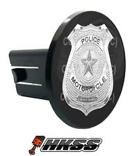 Universal Class 2  3 Tow Hitch Receiver Insert Cover Plug - POLICE BADGE GD3
