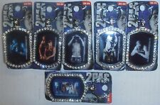 Wholesale Mixed Lot of 12 2PAC/Tupac Bling Keychain, BRAND NEW FACTORY SEALED