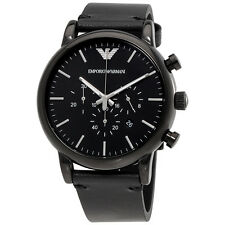 Emporio Armani Dress Chronograph Black Dial Mens Watch AR1918