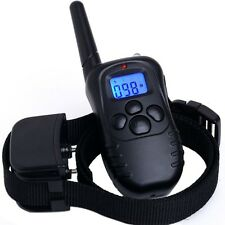 NEW LCD 100LV Level Shock Vibra Remote Pet Dog Training Collar For 10lb-130lb US