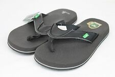 SANUK BEER COZY FLIP FLOPS SANDALS BLACK COLOR SIZE 7 US
