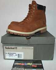 "Timberland 6"" Premium Brown Nubuck Leather Top Boot Men's Size 11.5 Tb073542"