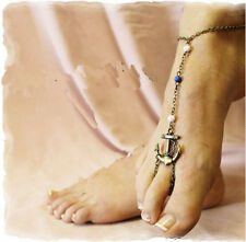 Woman Hot Sell Vintage Gothic Anchors Anklet Toe Ring Slave Bracelet Foot Chain