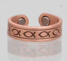 PURE COPPER MAGNETIC CHRISTIAN SYMBOL RING jewelry health magnet pain relief new