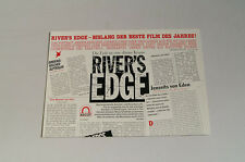 DAS MESSER AM UFER RIVER'S EDGE PRESSEINFO #2 DENNIS HOPPER KEANU REEVES (k2)