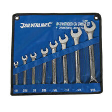 Silverline 633967 Whitworth Spanner Set 8pce 1/8 - 9/16""