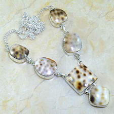 """Handmade Mother of Pearl Sea Shell 925 Sterling Silver Necklace 19"""" #X25814"""