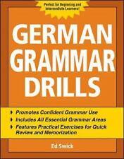NEW - German Grammar Drills by Swick, Ed
